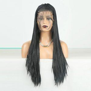 Fashion Women Long Braids Lace Front Synthetic Basic Cap Average Wig