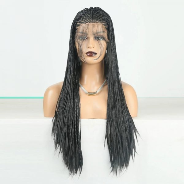 Fashion Women Long Braids Lace Front Synthetic Basic Cap Average Wig