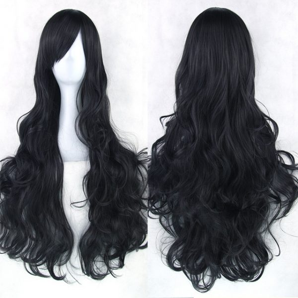 Top Quality Women Cosplay Long wavy Synthetic Bacic Cap Average Wig