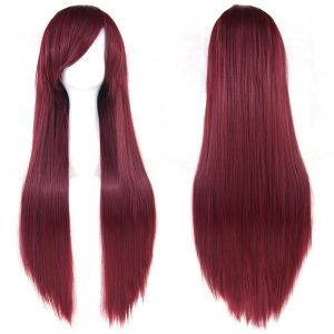 Hot Sale Women Cosplay Long Straight Synthetic Bacic Cap Average Wig