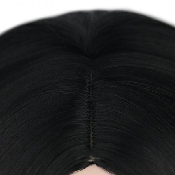 Low Price Women Long Wavy Black Average Bacic Cap Synthetic Wig