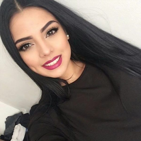 Popular Women Long Straight Black Average Bacic Cap Synthetic Wig