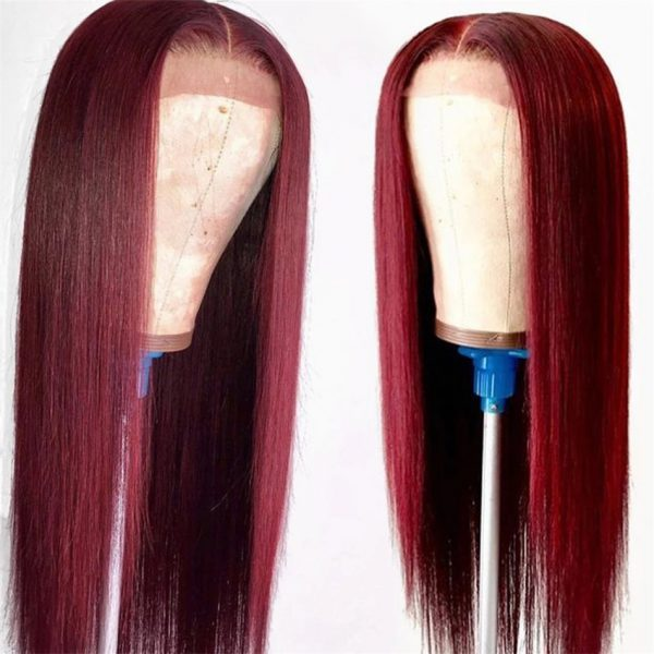 Best Women Long Straight Human Hair Synthetic Lace Front Basic Cap Wig