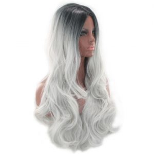 Hot Sale Women Long Wavy Lace Front Bacic Cap Average Synthetic Wig