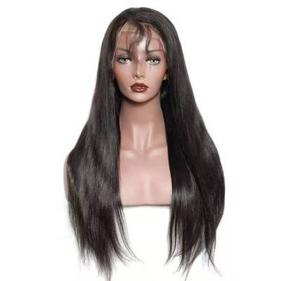 Best Women Long Straight Human Hair Lace Front Bacic Cap Synthetic Wig