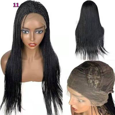Hot Sale Women Long Curly Pigtail Bacic Cap Lace Front Synthetic Wig