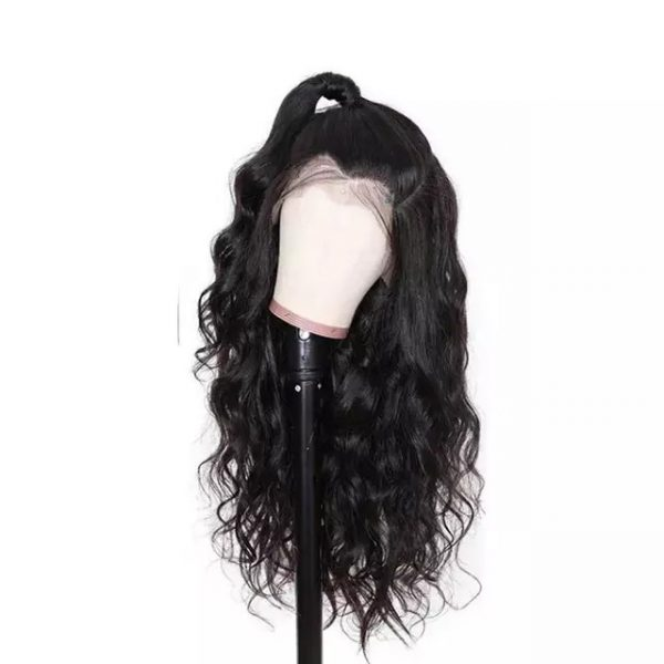 Low Price Women Long Curly Black Synthetic Bacic Cap Wig