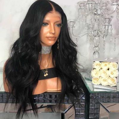 Fashion Women Long Wavy Basic Cap Human Hair Synthetic Wig