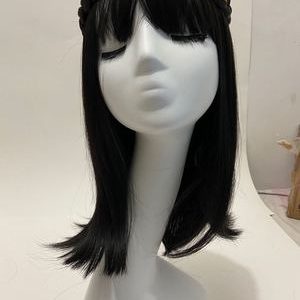 Hot Sale Women Short Straight Braid Lace Front Bacic Cap Synthetic Wig