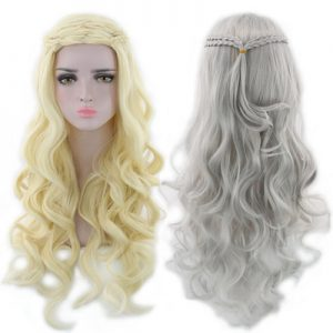Best Women Long Wavy Human Hair Lace Front Synthetic Bacic Cap Wig