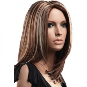 Hot Sale Women Long Straight Lace Front Bacic Cap Synthetic Wig