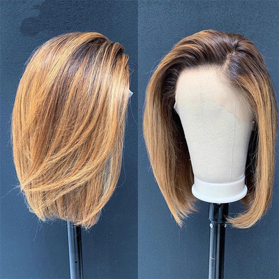 Low Price Women Short Straight Blonde Basic Cap Synthetic Wig