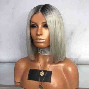 Popular Women Short Straight Bacic Cap White Average Synthetic Wig