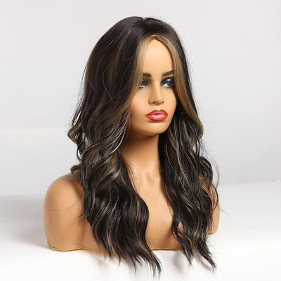 Best Women Long Wavy Lace Front Human Hair Bacic Cap Synthetic Wig