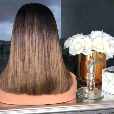 Fashion Women Long Straight Basic Cap Lace Front Synthetic Wig