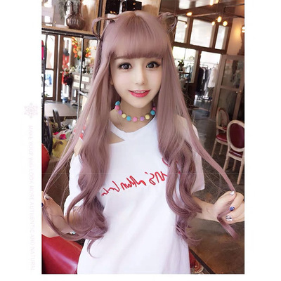 Popular Women Long Wavy Lace Front Bacic Cap Synthetic Wig